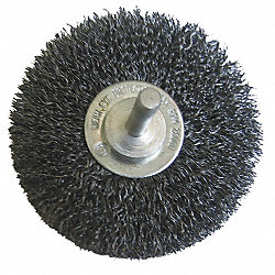 Wire Wheel, 3 In D, Steel, 0.0080 Wire