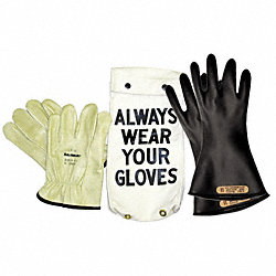 Electrical Glove Kit, Size 9, Black