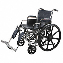 20 in. Wheelchair with Elevating L/R