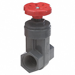 Gate Valve, 2 In, FNPT, PVC, 150 psi