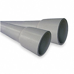 Conduit, Schedule 80, 3/4 In, 10 Ft, PVC