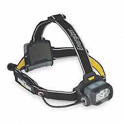 LED Headlight, 3 AA, Black and Gray
