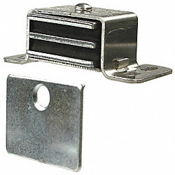 Cabinet Catch, Aluminum, Catch L 2 1/16 In