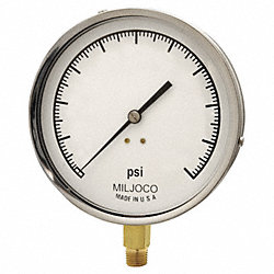 Pressure Gauge, Contractor, 4 1/2In, 600Psi