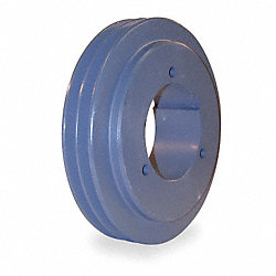 V-Belt Pulley, Spl Taper, 3.15 In OD, 2GRV