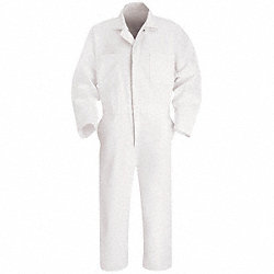 Coverall, Chest 50In., White