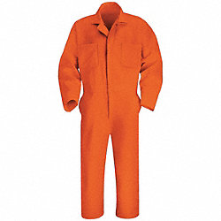 Coverall, Chest 38In., Orange