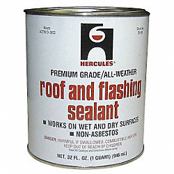 Roof Flashing Sealant, Black, 1 Qt