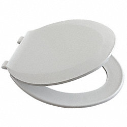 Toilet Seat, Elgonated, 18 7/64 In, White