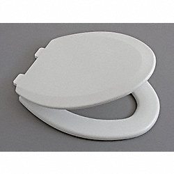 Toilet Seat, Elgonated, 18 29/32 In, White