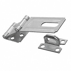 Safety Hasp, Double Hinge, Steel