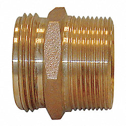 FireHoseNipple, Br, 2.5 NPT MLx2.5 NH ML
