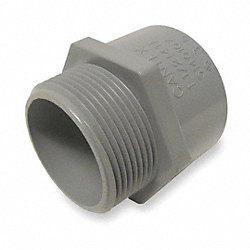 Male Adapters, 1 Piece, 1 1/4 In, PVC