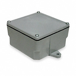 Junction Box, PVC, 4.396x4.396x4.50