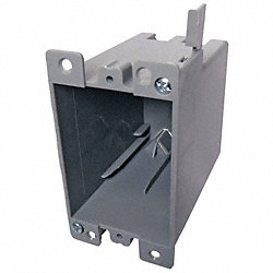 Electrical Box, 1 Gang, 21 Cu In, PVC