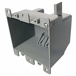Electrical Box, 2 Gang, 25 Cu In, PVC