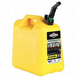 Spill Proof Diesel Fuel Can, 5 Gal, Yellow