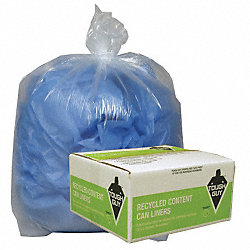 Recycled Can Liner, 55 to 60 gal., PK100