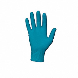 Disposable Gloves, Nitrile, M, Teal, PK100