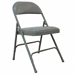 Steel Chair with Vinyl Padded, Gray