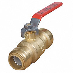Ball Valve, 3/4 In, 200 PSI, Brass