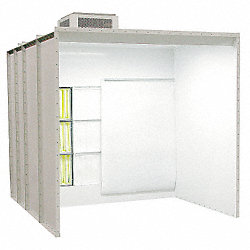 Non Recovery Powder Booth, 14 x8 x8  ft.