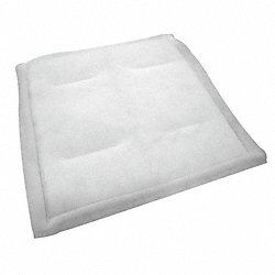 Paint Collector Filter Pad, 1 In. D, PK 24