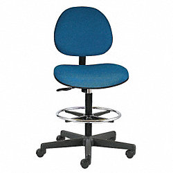 Pneumatic Task Chair, 300 lb., Blue