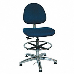 ESD Pneumatic Task Chair, 300 lb., Fabric