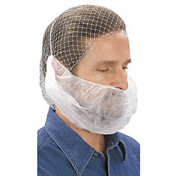 Beard Cover, White, Regular, PK100