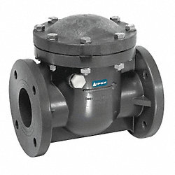 Swing Check Valve, 4 In, Flanged, PVC