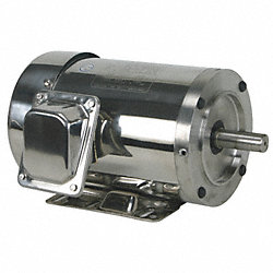 Washdown Motor, 3 Ph, TEFC, 2 HP, 3480 rpm