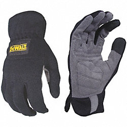Mechanics Gloves, L, Black, Foam Padding, PR