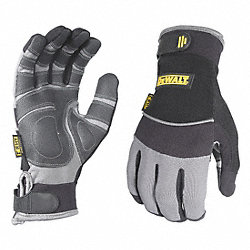 Anti-Vibration Gloves, L, Black/Gray, PR