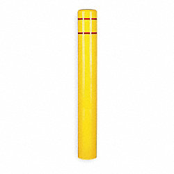 Post Sleeve, OAH72In, Yellow w/Red