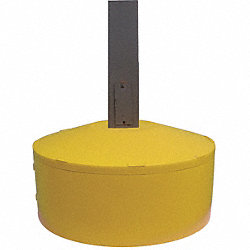 Pole Cover, 1 Ring, 8In Round, Yellow