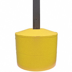 Pole Cover, 2 Ring, 6In Round, Yellow