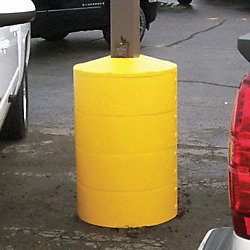Pole Cover, 4 Ring, 6In Square, Yellow