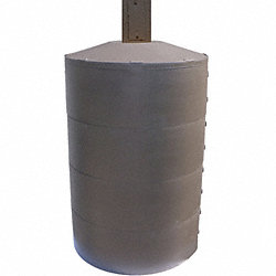 Pole Cover, 4 Ring, 8In Round, Brown