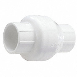 Swing Check Valve, 2 In, Hub, PVC