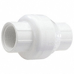 Swing Check Valve, 1/2 In, FNPT, PVC