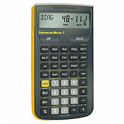 Construction Calculator, 5 5/8 Lx3 In W