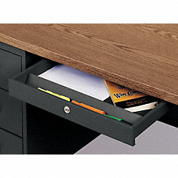 Drawer, Steel Desk Lap, Black