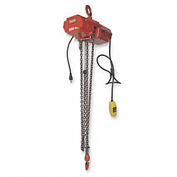 Electric Chain Hoist, 500 lb., 10ft, 8 fpm