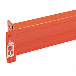 Teardrop Pallet Rack Beam, 96Lx5H, Orange