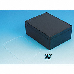 Enclosure, 4X, 7.32x5.75x2.95 In, Black