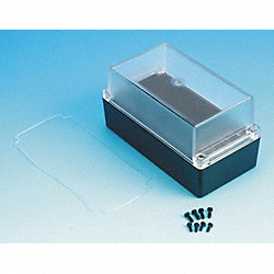 Enclosure, 4X, 6.50x3.35x3.35 In, Clear/Blk