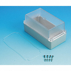 Enclosure, 4X, 6.50x3.35x3.35 In, Clear/GY