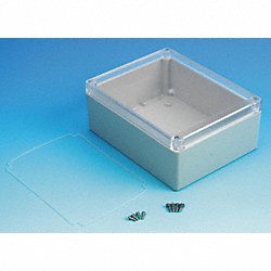 Enclosure, 4X, 7.32x5.75x2.95 In, Clr/Gray