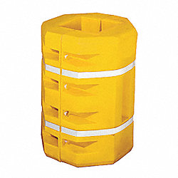 Column Protector, Square, Yellow, 16 In